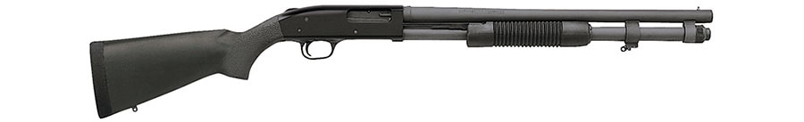 A 20-inch 12 gauge with a parkerized barrel