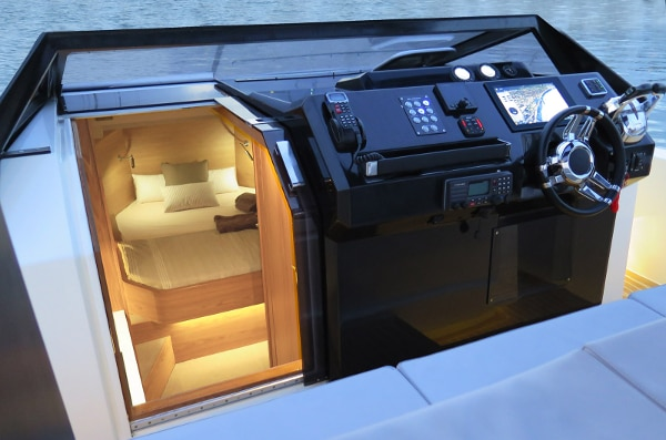 Complete with two bedrooms, full kitchen and bath (Photo: De Antonio Yachts)