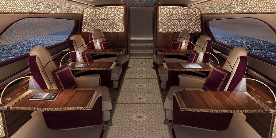 It boasts sumptuous seating for six (Photo: Federico Fiorentino Superyacht Design)