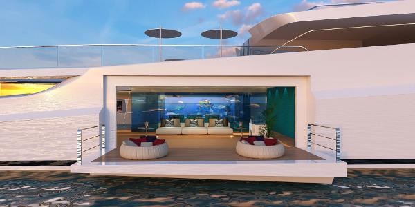 A 3,200-square foot beach club (Photo: Gabriele Teruzzi)