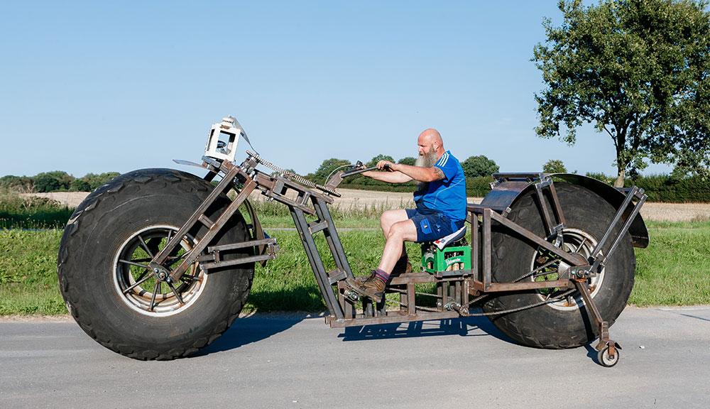 German on giant bike AP