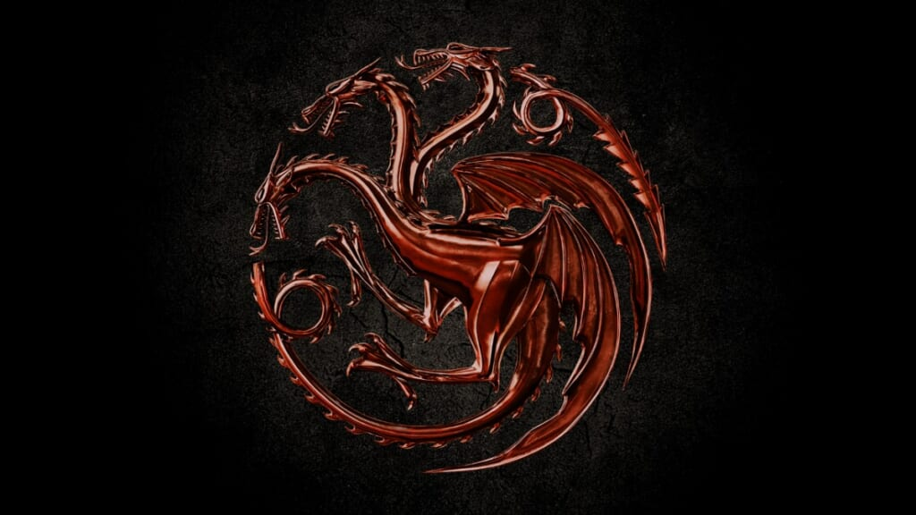House of the Dragon symbol from HBO Max's Game of Thrones spinoff.