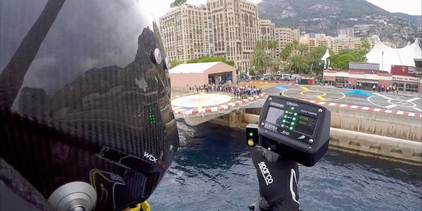 Mayman peers back at the pier (Photo: JetPack Aviation)
