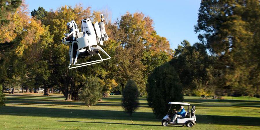 Behold, the Jetpack Golf Cart (Photo: Martin Aircraft Company)