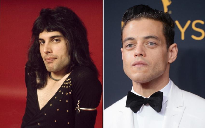 Freddie Mercury and Rami Malek Getty