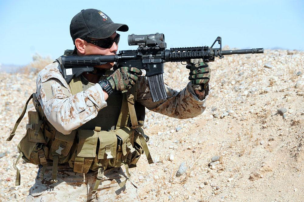 Navy Seal in the desert (Photo: Wikimedia)