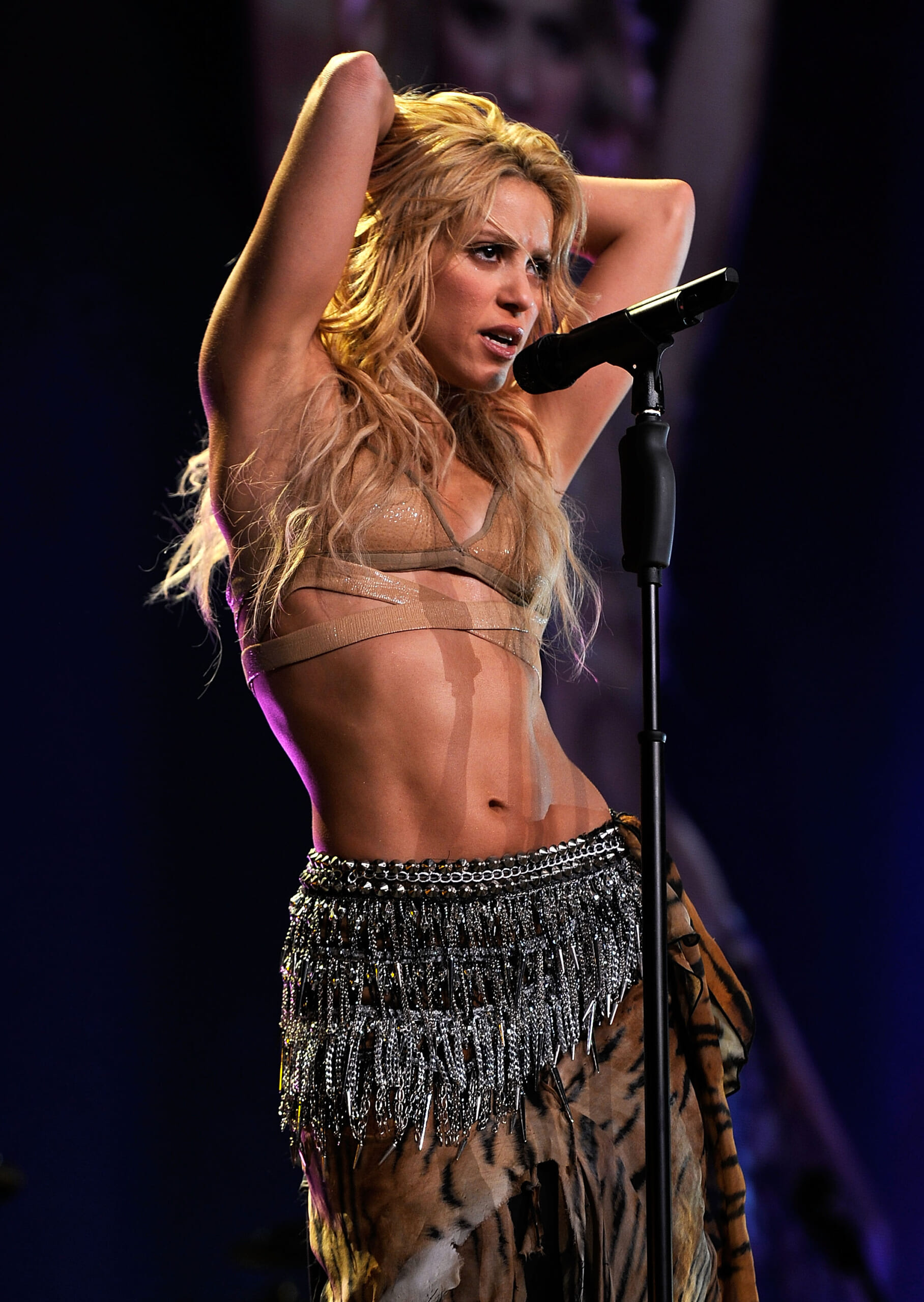 Shakira performs at Madison Square Garden on September 21, 2010 in New York, New York. (Photo by Larry Busacca/Getty Images for Epic)