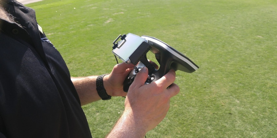 The included Skycontroller 2 unit (Photo: Scott Tharler)