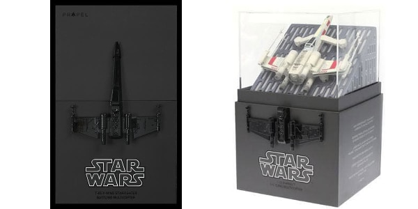The X-Wing (and others) features a handsome box and display case (Photo: Propel Toys)