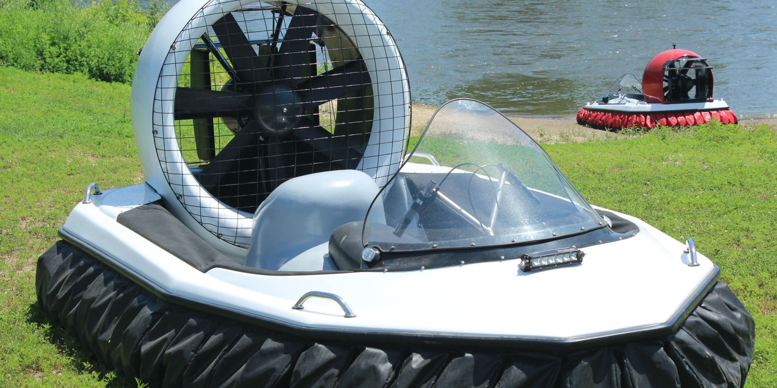 A carbon kevlar reinforced body makes it sturdy (Photo: Universal Hovercraft of America)