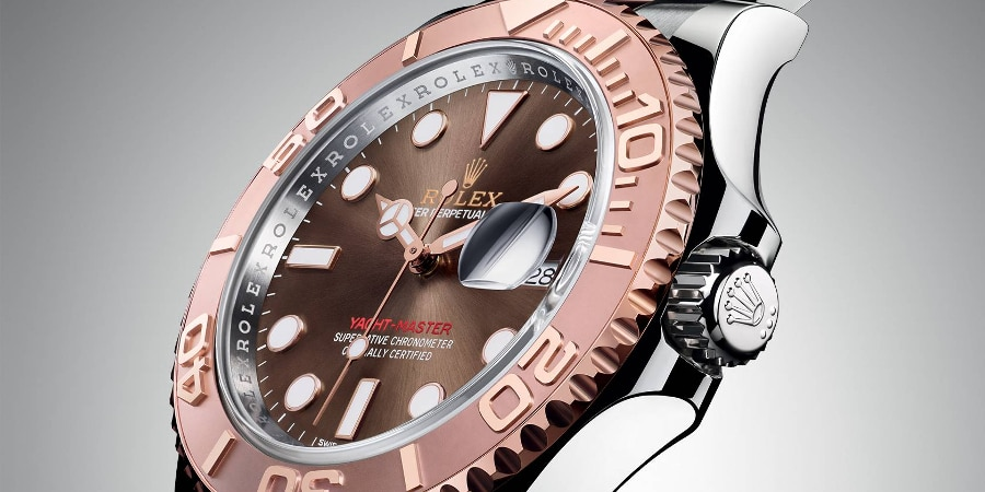 A chocolate dial with steel and Everose details (Photo: Rolex)