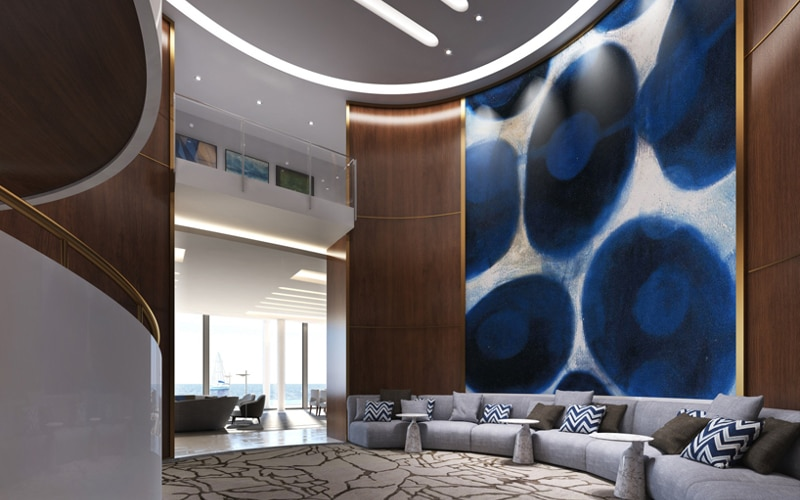 And to a spacious ante room with curved interior staircase (Photo: Schopfer Associates)