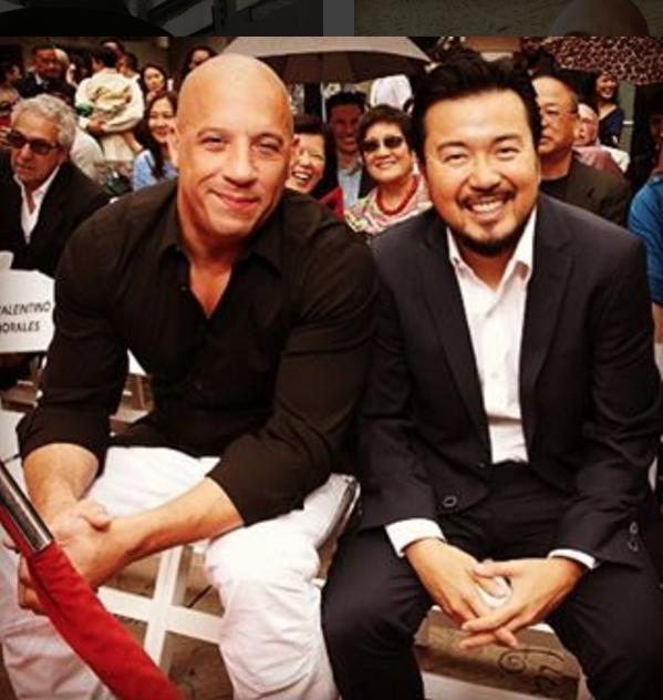 Vin Diesel and Justin Lin