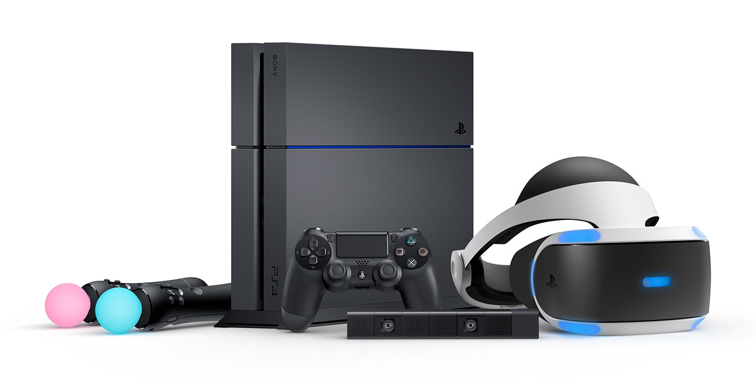 Move motion controllers and a Camera round out the VR family (Photo: Sony Computer Entertainment)