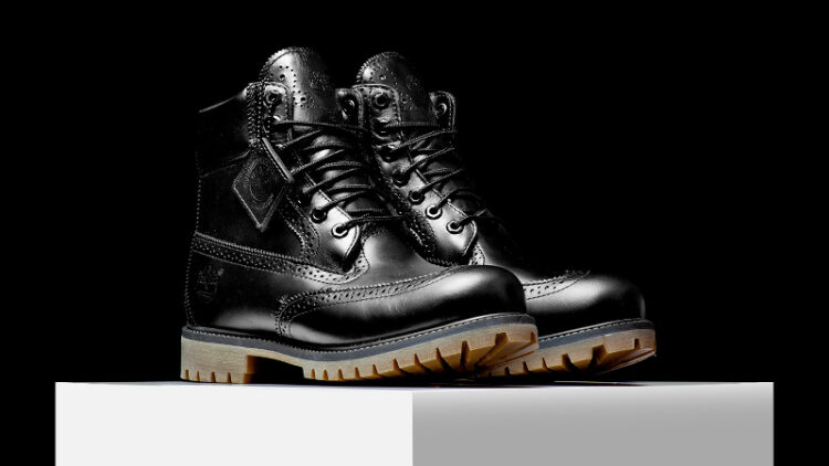 Timberland's Brogue is also available in black (Photo: Rise)