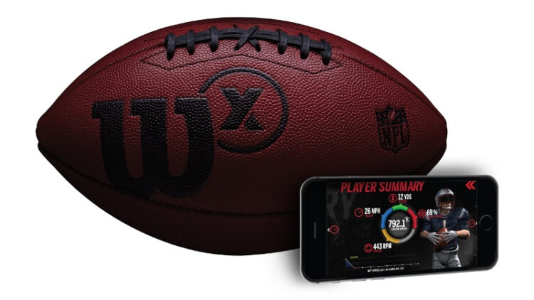 The Wilson X Connected Football launches 9/8 for $200 (Photo: Wilson Sporting Goods)