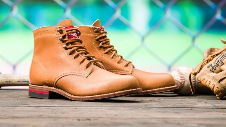 wolverine rawlings boot collab promo