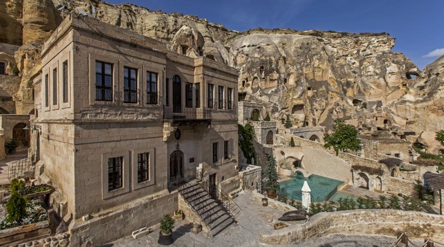 A 19th century Greek mansion crowns the caves (Photo: Yunak Evleri Cappadocia)