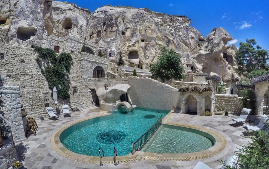Relax by the pool when not exploring the countryside (Photo: Yunak Evleri Cappadocia)